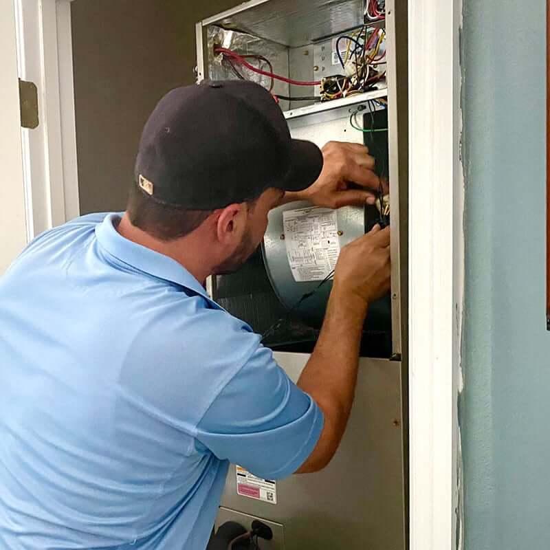 Scott working on air handler