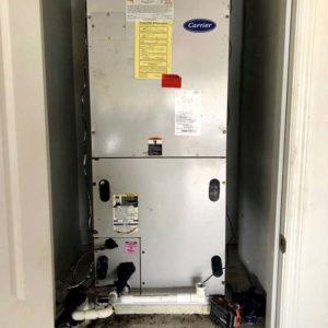 Before: Heat Pump Air Handler Installation